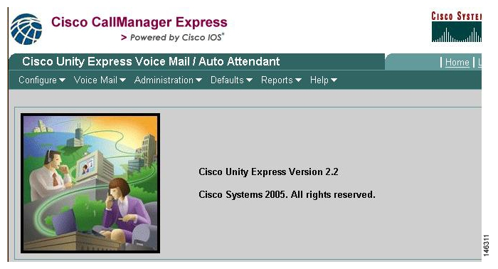 Cisco Unity Express Windows and Menus