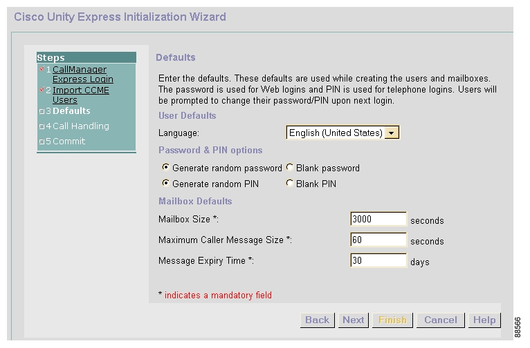 Configuring the System Using the Initialization Wizard